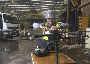 Carlos tarragona, operario, drone, industria, SpectralGeo, spectral geo